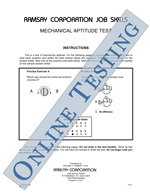 Mechanical Aptitude Test (Alternate Equivalent) - Form MAT-B (Online)