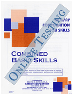 Combined Basic Skills (Customer Service) - Form CCF (Online)