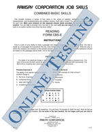 Combined Basic Skills (Electrical) - Form CBS-E (Online)