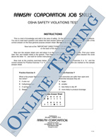OSHA Safety Violations Test - Form A (Online)