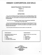 Maintenance Technician Test 3 - Form INM-3