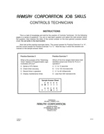 Controls Technician - Form A