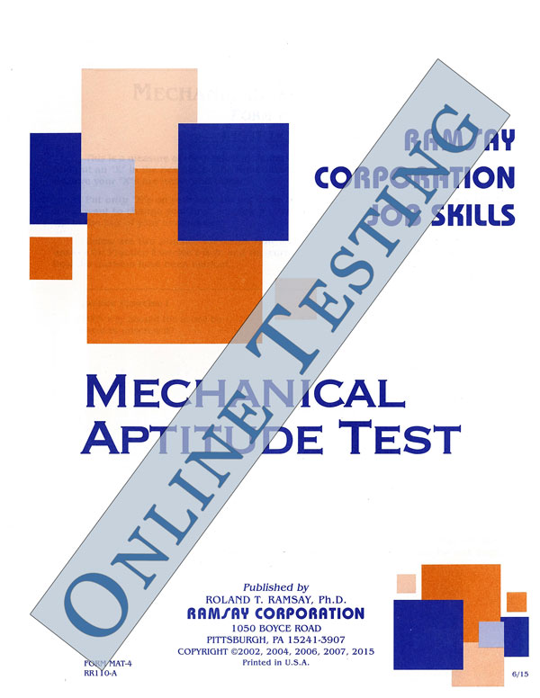 Mechanical Aptitude Test - Form MAT-4 (Online) - Ramsay