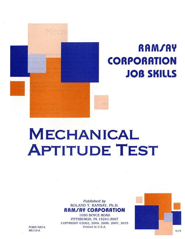 Mechanical Aptitude Test Form MAT 4 Ramsay Corporation