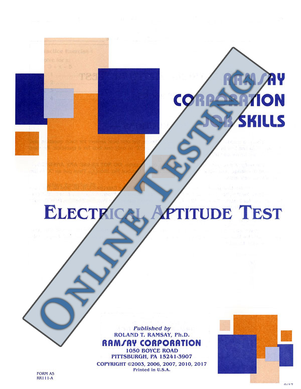 electrical aptitude test form a5 online ramsay corporation rh ramsaycorp com Basic Electrical Study Guide ramsey electrical test study guide
