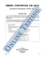 Variable-Frequency Drive (VFD) Test - Form A (Online)