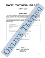 MecTest (Alternate Equivalent) - Form B3 (Online)