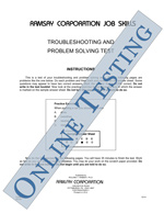 Mechanical Learner Series - Troubleshooting and Problem Solving - Form CMO (Online)