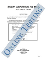 Electrical Entry - Form A (Online)