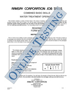 Combined Basic Skills (Water Treatment Operator) - Form WTO (Online)