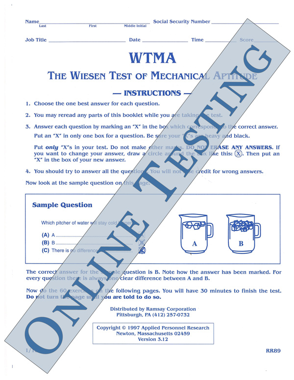 Wiesen test of mechanical aptitude form wtma online ramsay wiesen test of mechanical aptitude form wtma online fandeluxe Choice Image
