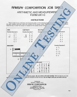 Arithmetic and Measurement - Form UK1-C (Online)