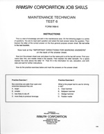 Maintenance Technician Test 6 - Form INM-6