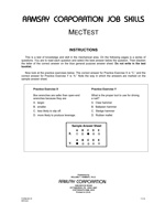 MecTest (Alternate Equivalent) - Form B3