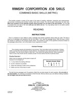 Combined Basic Skills (Alternate Equivalent, Metric) - Form B4-M