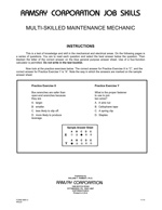 Multi-Skilled Maintenance Mechanic - Form SMS-O (Online)