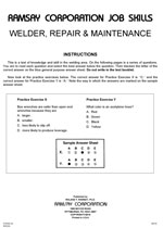 Welder, Repair & Maintenance - Form A3