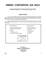 Maintenance Troubleshooter - Form B