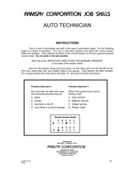 Auto Technician - Form A3