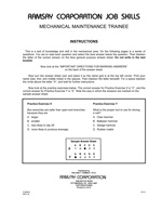 Mechanical Maintenance Trainee (Alternate Equivalent) - Form B