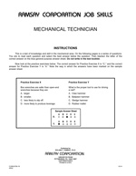Mechanical Technician - Form BTM-1R