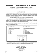 Mobile Equipment Operator - Form AR (Online)